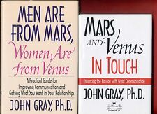 2 John Gray books: Men Are From Mars & Mars and Venus in Touch -Free Ship