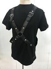 Steampunk Sdl Men's Black Heavy Cotton Top With Cross Strap I30xrs XL