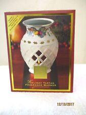 Lenox Holiday Tartan Christmas Fragrance Warmer w/Yankee Candle – New