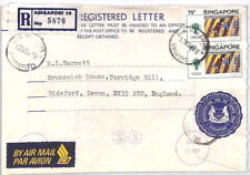 BP125 1979 SINGAPORE REGISTERED STATIONERY Commercial Airmail Cover Devon