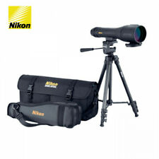 NIKON SPOTTER XL II SPOTTING SCOPE 16-48 x 60mm BLACK WITH TRIPOD AND CASE, NEW!