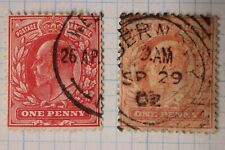 Gb sc#128, 128c aniline rose used postage stamp sg#219 cv$145.00