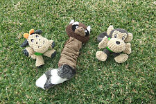 Hiho Australia Dog Toy Soft Plush Value Pack w Rubber ball chew & Squeaky Styles