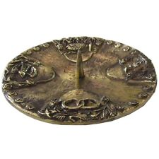 Taufkerzenleuchter 4 Symbole Messing poliert baptism candle holder