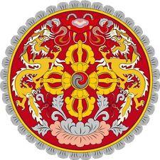 PREMIUM Autoaufklebere Bhutan Butan Asien Wappen Schild Aufkleber Sticker NEU