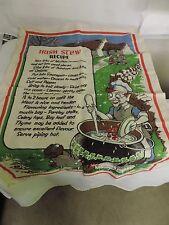 Vintage Linen Irish Stew Recipe Tea Towel Wall Hanging Made In Ireland