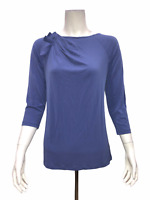 George Simonton Milky Knit Top with Pleated Shoulder Detail X-Small Size