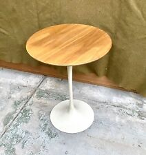 """Vintage Mid-century Knoll Saarinen Tulip Oak End or Side Table 16"""" Dia x 20""""h"""