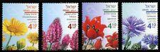 2018 Israel, flora, spring flowers, 4 stamps, MNH