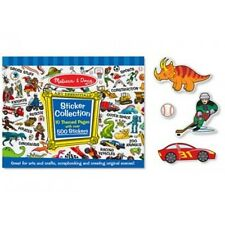Melissa and Doug Sticker Collection Pad Blue - 500 Boys Kids Cars Animals Dino
