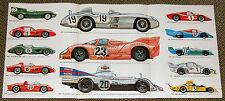 Porsche 917 Pink Pig 935 936, Matra 670, Jaguar D, Mercedes 300 SLR, Alpine etc.