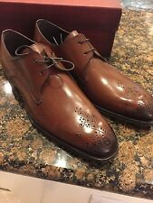 Mezlan Mens Harper Lace Up Brogue Perforated Business Casual Oxfords Dress Shoes