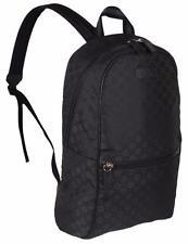 New Gucci 449181 Black Nylon GG Guccissima Slim Backpack Rucksack Travel Bag