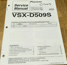PIONEER VSX-D509S AUDIO/VIDEO RECEIVER ORIGINAL SERVICE REPAIR MANUAL