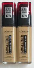 (2) Loreal Infallible Fresh Wear Foundation, 430 Ivory Buff