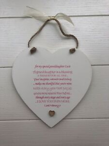 PERSONALISED Present Special Granddaughter Grandaughter Gift Heart
