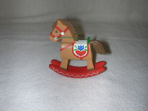 Hallmark 1980 Ambassador Rocking Horse Ornament--no box