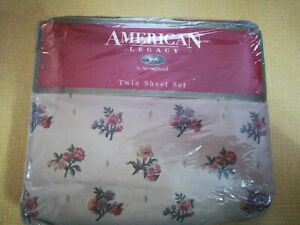 American Legacy Springmaid Twin Sheet Set Vintage Calico Floral  new, sealed