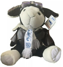 """Rare Pappy The Black Sheep Plush 15"""" Goggles, Jacket, Scarf Born Aviation Airzoo"""