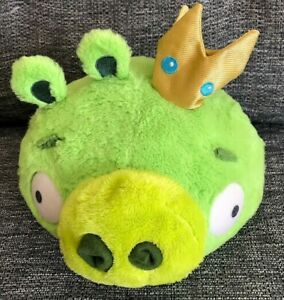 """Angry Birds Green King Pig 10"""" Soft Toy"""
