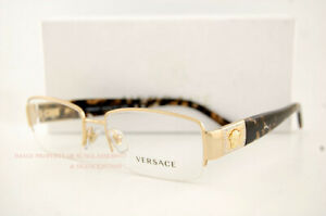 Brand New VERSACE Eyeglass Frames 1175B 1002 GOLD Men 100% Authentic 53