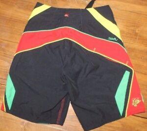 Quicksilver  Rasta   Board  SHORTS   swim  trunks      size 22