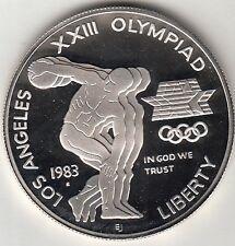 STATI UNITI DOLLARO ARGENTO OLIMPIADE LOS ANGELES 1984 DISCOBOLO Zecca S PROOF