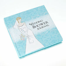 Blue Hardcover Memory Keepsake Wedding Shower Journal Book