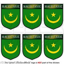 MAURITANIA Africa Mauritanie Shield Mobile Cell Phone Mini Stickers, Decals x6
