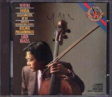 YO-YO MA Signed DVORAK Cello Concerto LORIN MAAZEL CBS CD 86 Silent Woods Rondo