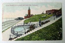 Railroad Trains C & N W Depot Station Milwaukee Wisconsin 1909 Postcard #54gr