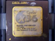 One Cyrix 686 6x86MX-PR166 or 6x86L-PR166+GP 60/66/133MHz Gold Ceramic Processor