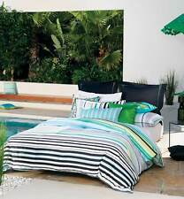 LINEN HOUSE King Bed Quilt Cover Set 7 piece set AQUARIUS Cotton Summer Stripes