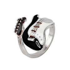 Silver Guitar ring stratocaster Punk Rings Charm Guitars Music Finger muso gift