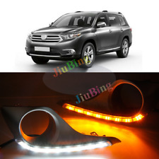For Toyota Highlander 2012-2014 Matte DRL Daytime Running Light With Turn Signal