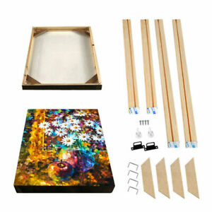 Canvas Stretcher Bars DIY Frames Wooden Strips Kits for Oil Painting Art Gallery