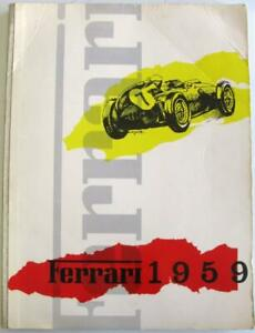 FERRARI 1959 Car Year Book Italian Text SEFAC