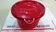 7 Ziploc Large Round Bowl Food Storage Containers BPA Free 56oz. Holiday RED New
