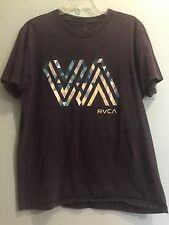 RVCA Mens Artist Network Program Graphic Tee T-Shirt Blue 100% Cotton Sz L