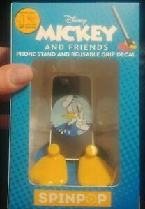 Spin Pop Disney Daffy Mickey and Friends Phone Stand & Reusable Grip Decal NEW