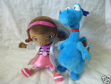DISNEY DOC MCSTUFFINS - 2 x DOC & STUFFY PLUSH SOFT TOYS DOLL 21cm Licensed BNWT