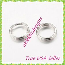 6mm 100pcs Antique Silver Plated Split Dbl Jump Rings Jewelry Findings Necklace