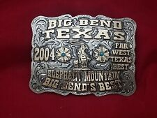 2004 RODEO TROPHY  BUCKLE VINTAGE~BIG BEND TEXAS ROPING CHAMPION~LEO SMITH 120