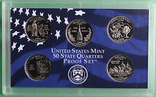 2000 S Five Coin State QUARTER Proof Set No Box 5 Statehood Twenty Five Cents