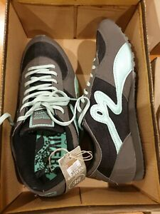 NEW Ladies Size 38 Rivers Black Mint Green Runners / Casual Jogger Shoes NO BOX