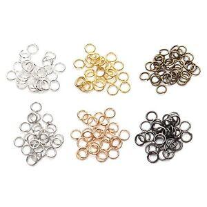 500pcs/Lot Metal Open Jump Rings 4 5 6 7 8 10mm Diy Jewelry Making Accessories