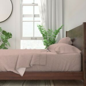 Dusty Pink Dusty Rose Vintage Rose 100% Cotton Sateen Sheet Set by Roostery