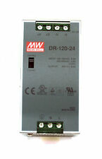 1pc DIN Rail DC Switching Power Supply DR-120-24 120W 24V 5A Mean Well MW UL TUV