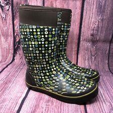 Bogs Taylor Women's Polka Dot Waterproof Pull On Rain Boots Size 10