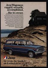 1977 JEEP WAGONEER - Blue W/ Wood Paneled 4 Wheel Drive SUV truck Car VINTAGE AD
